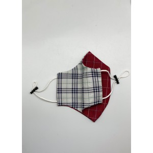 Red and White checkered 100% Premium Cotton Reusable Reversible Face Mask