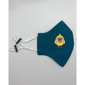 Baby Chicken Teal Embroidered Mask