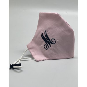Embroidered Monogram Alphabet 100% Pure Premium Cotton Face Mask