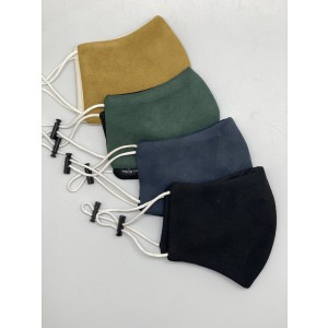 Pack of 4 Suede Mask for Men