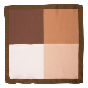 4 in 1 Brown 100% Silk Pocket Square