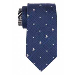Blue Derby Horse with Jockey 100% Silk Necktie