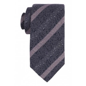 Dreamer Blue with Grey Stripe 50% Silk and 50% Wool Necktie