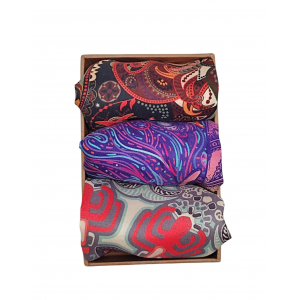 100% Silk Pocket Square Pack of 3 Combo Pack