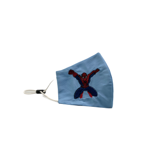 Spider-Man Sky Blue Embroidered Mask