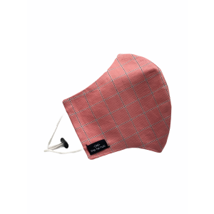 Pink Checkered Premium Cotton Face Mask