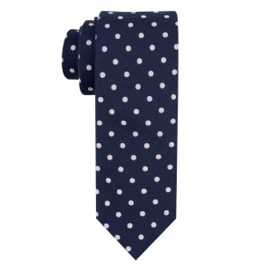 Dotted Hitch Polka Blue 100% Silk Necktie