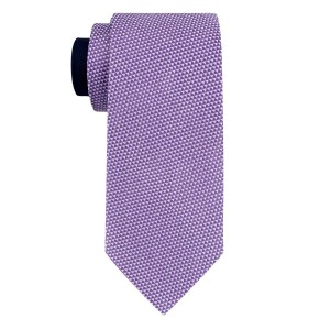 Flecked Solid Purple 100% Silk Necktie