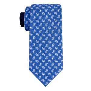 Mini Paisley Blue 100% Silk Necktie
