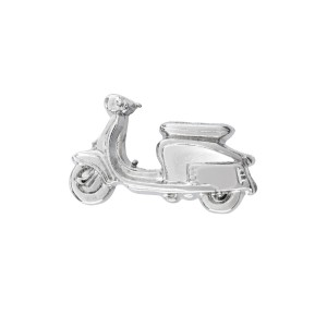 Scooter silver Lapel Pin