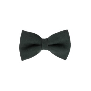 Solid Green Suede Bow Tie