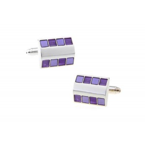 Purple Chips Rectanguler Cufflink