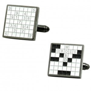 Suduko Crossword Cufflinks