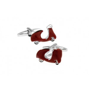 MOPED SCOOTER RED CUFFLINKS