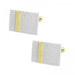 Rectangular Gold Brass Cufflink
