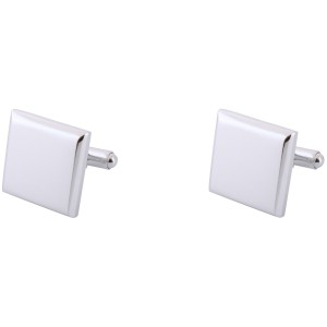 Parallel Plain Curved Square Brass Cufflink