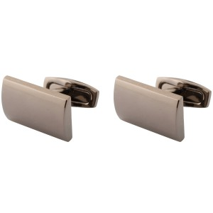 Gunmetal Curved Ractanguler Cufflinks