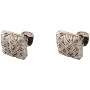 Decide Carving Gunmetal Square Cufflinks