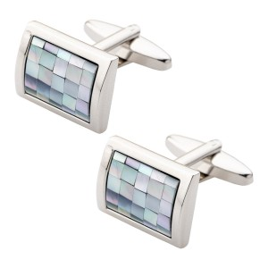 Blue MOP Rectangular Cufflink