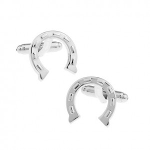 Horse Shoe Silver Cufflink by The Tie Hub