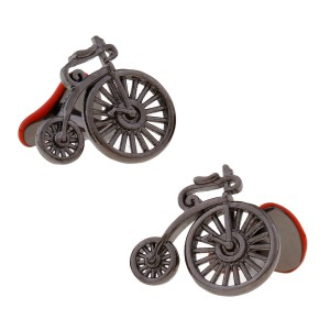 High Wheel Bicycle Cufflinks for Men