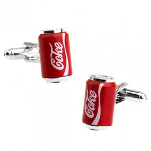 Soft Drink Can Red Cufflinks