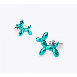 Green Balloon Dog Cufflinks