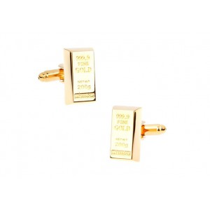 Gold Bullion Bar Cufflinks