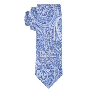 Graphic Blue Micrifiber Necktie