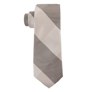 Black and White Checkered Microfiber Necktie