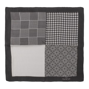 Four Square Printed 100% Silk Pocket Square