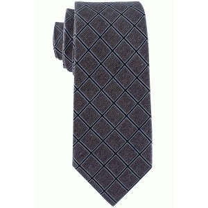 Legacy Grey and Blue Plaid 7 Fold Silk Necktie