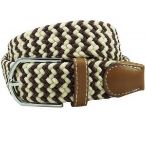 Wave Braid - Brown/Cream (Belt)