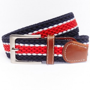 Tom Blue and Red Elasticated belt