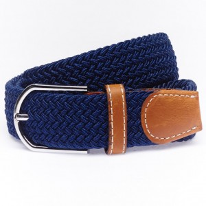 Solid-Navy Elasticated Belt