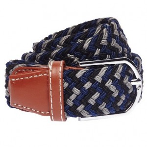 Wave - Blue,Grey, & Black Elasticated Belt