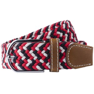 Wave - Red/Black/White Elasticated Woven Belt