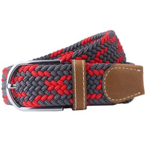 Mink-Red/Grey ElasticatedWoven Belt