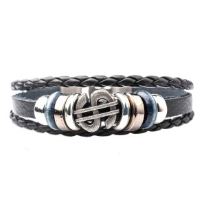 Doller Black Stripe Wrist Band