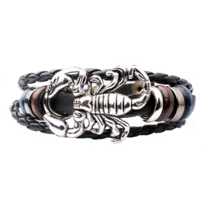 Scorpion Black Stripe Wrist Band