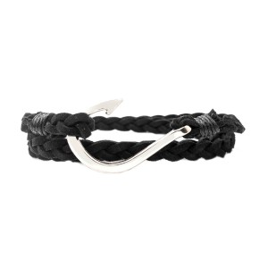 Fish Hook Black Belt Wrist Band