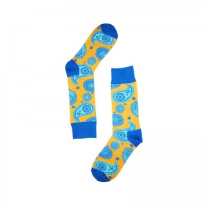 Vintage Paisley - Yellow/Blue (Bright Socks)