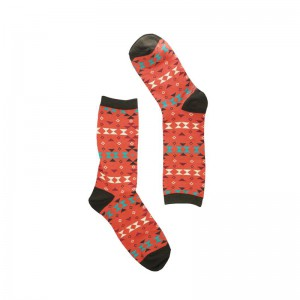 Porall Argyle - Tomato Red (Bright Socks)