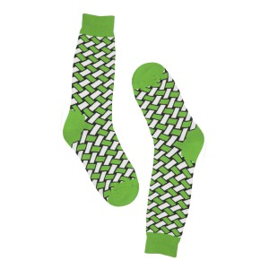 Jute Green Bright Socks