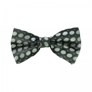 Drovano Dotted - Black and Silver Bowtie