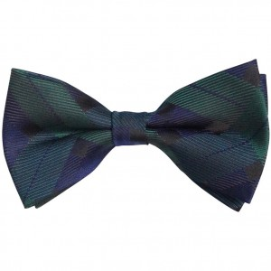 Silk Knot Navy Blue and Bottle Green Bow Tie