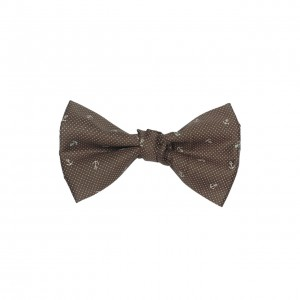 Anchor Brown Pindots 100% Cotton Bow Tie