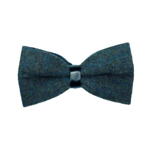 Tweed Grey Checkered Bow Tie
