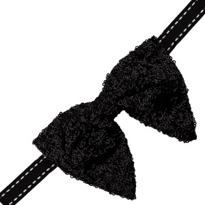 Disco Butterfly Bow Tie - Black