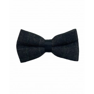 SOUTHEAST PLAID Grey Checkered Wool Bow Tie